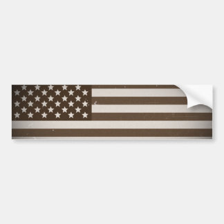 Bandera de los E.E.U.U. del vintage Pegatina De Parachoque