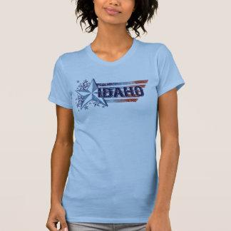Bandera de los E.E.U.U. del vintage con la Camiseta
