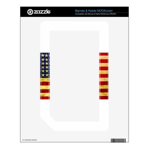 Bandera de los E.E.U.U. del vintage Skins Para elNOOK Color