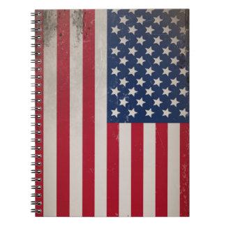 Bandera de los E.E.U.U. del vintage Libretas
