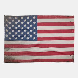 Bandera de los E.E.U.U. del vintage Toalla De Mano