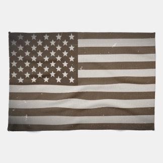 Bandera de los E.E.U.U. del vintage Toalla