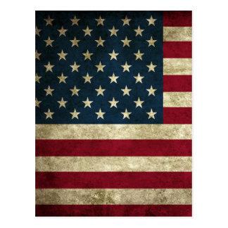Bandera de los E.E.U.U. del vintage Postales