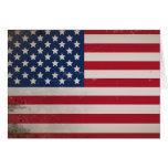 Bandera de los E.E.U.U. del vintage Tarjeta