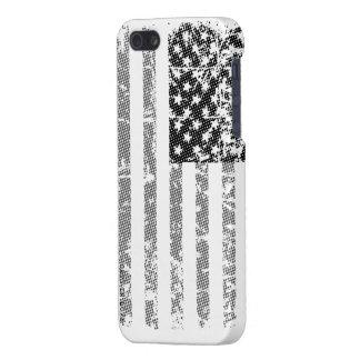 Bandera de los E.E.U.U. en blanco y negro iPhone 5 Carcasa