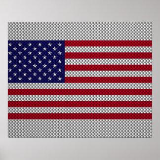 Bandera de los E.E.U.U. en la decoración del Póster