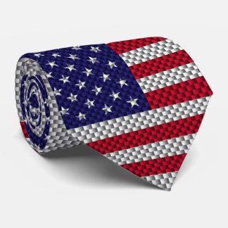 Bandera de los E.E.U.U. en la impresión del estilo Corbata Personalizada