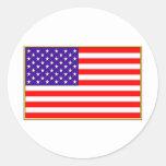 Bandera de los E.E.U.U. Etiquetas Redondas