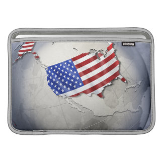 Bandera de los E.E.U.U. Fundas MacBook