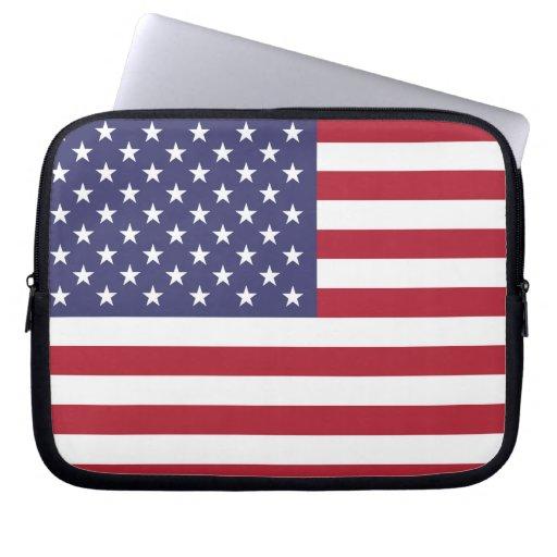 Bandera de los E.E.U.U. Fundas Ordendadores
