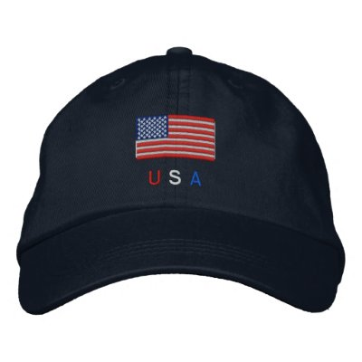 Bandera de los E.E.U.U. Gorra De Beisbol