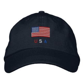 Bandera de los E.E.U.U. Gorras De Beisbol Bordadas