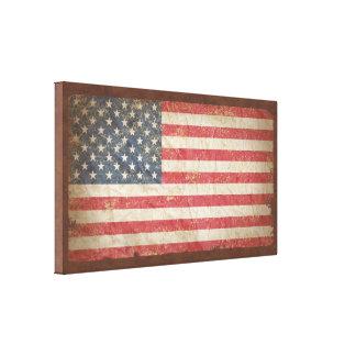 Bandera de los E.E.U.U. Impresión En Lona Estirada