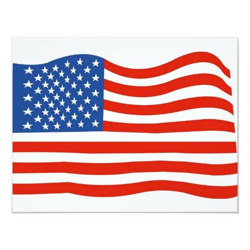 """Bandera de los E.E.U.U. Invitación 4.25"""" X 5.5"""""""