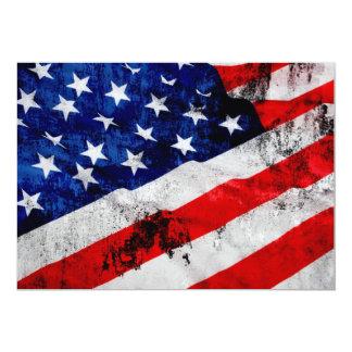 """Bandera de los E.E.U.U. Invitación 5"""" X 7"""""""