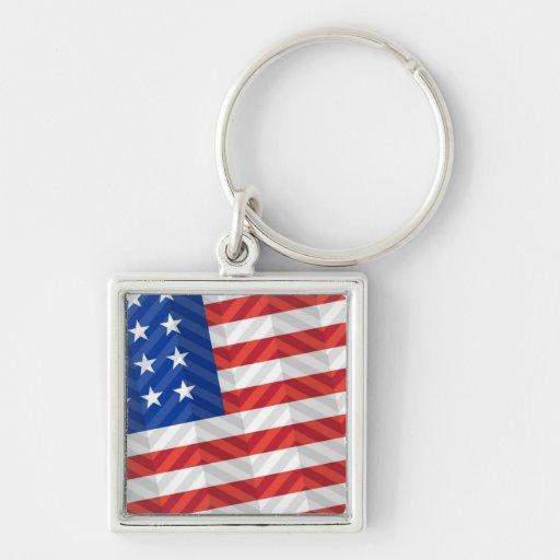 Bandera de los E.E.U.U. Llavero