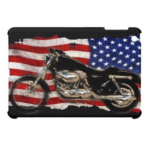 Bandera de los E.E.U.U., motocicleta, moto, cerdo,