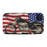 Bandera de los E.E.U.U., motocicleta, moto, cerdo, iPhone 4 Carcasa
