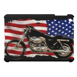 Bandera de los E.E.U.U., motocicleta, moto, cerdo, iPad Mini Cobertura