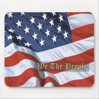 Bandera de los E E U U nosotros la gente Mousepa Tapete De Raton