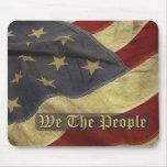 Bandera de los E.E.U.U., nosotros la gente Mousepa Alfombrilla De Ratones