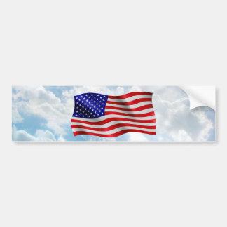 Bandera de los E.E.U.U. ondulada - pegatina para Pegatina Para Auto