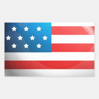 Bandera de los E E U U Rectangular Altavoces
