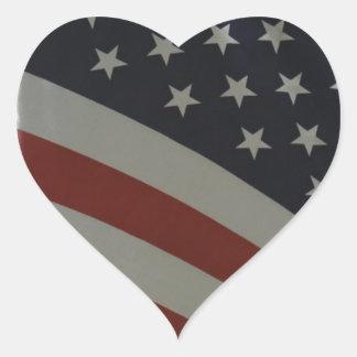 Bandera de los E.E.U.U. Pegatina En Forma De Corazón