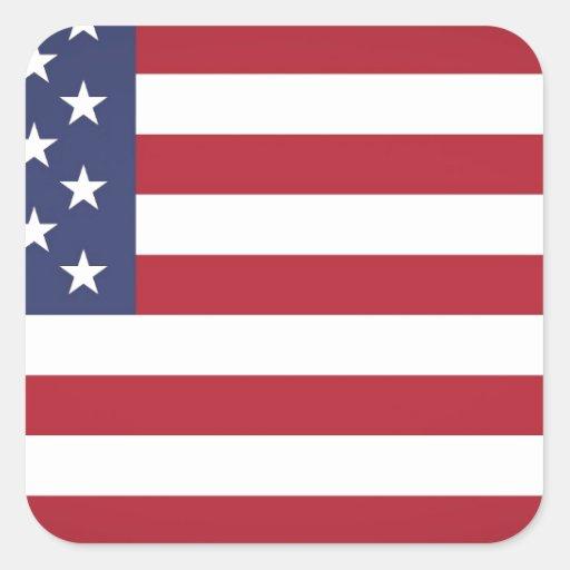 Bandera de los E.E.U.U. Pegatina Cuadrada