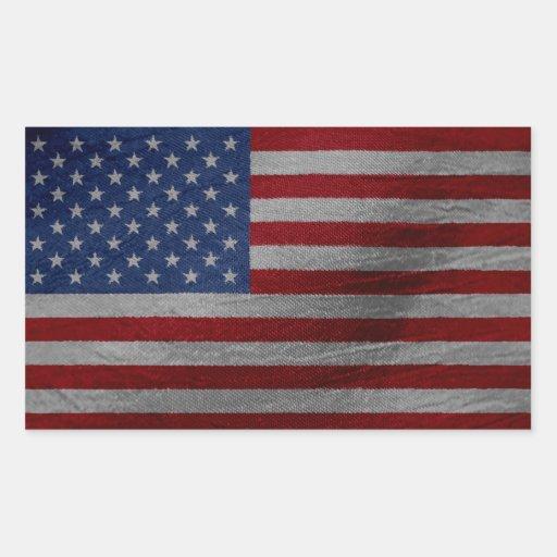 Bandera de los E.E.U.U. Pegatina Rectangular
