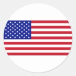 Bandera de los E.E.U.U. Pegatina Redonda