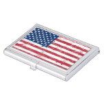 Bandera de los E.E.U.U. Caja De Tarjetas De Negocios