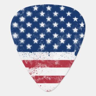 Bandera de los E.E.U.U. Púa De Guitarra