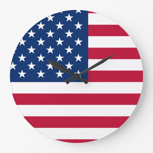 Bandera de los E.E.U.U. Relojes De Pared