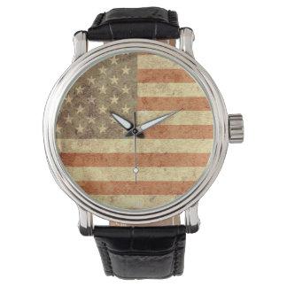 Bandera de los E.E.U.U. Relojes De Pulsera