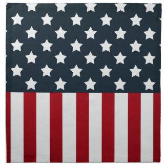 Bandera de los E.E.U.U. Servilletas Imprimidas