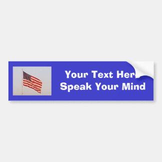 Bandera de los E.E.U.U. + Su pegatina para el para Pegatina De Parachoque