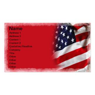 Bandera de los E.E.U.U. Tarjetas De Visita