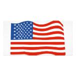 Bandera de los E.E.U.U. Tarjetas Personales Con Fotos