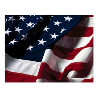 Bandera de los E.E.U.U. Tarjeta Postal