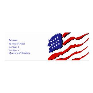 Bandera de los E.E.U.U. Tarjetas De Visita Mini