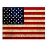 Bandera de los E.E.U.U. Tarjetas Postales