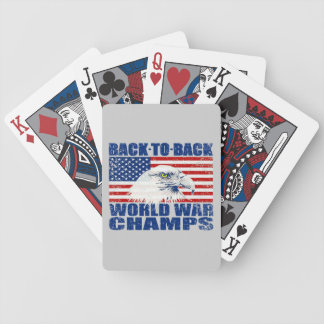 Bandera de los E.E.U.U. y campeones de la guerra Baraja Cartas De Poker