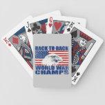 Bandera de los E.E.U.U. y campeones de la guerra m Baraja Cartas De Poker