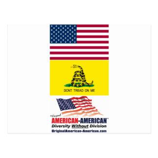 Bandera de los E.E.U.U. y de Gadsden: Movimiento Tarjetas Postales