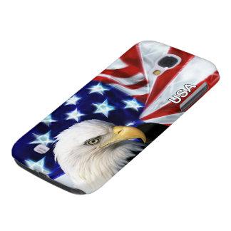 Bandera de los E.E.U.U. y patriota de Eagle calvo Funda Para Galaxy S4