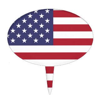Bandera de los Estados Unidos Figura Para Tarta