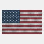 Bandera de los Estados Unidos con efecto de la Rectangular Altavoces