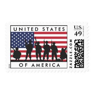 Bandera de los Estados Unidos de América con los s Sellos