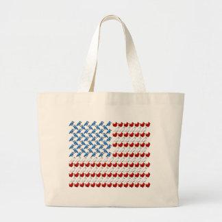 Bandera de los Estados Unidos de América hecha de  Bolsa Tela Grande